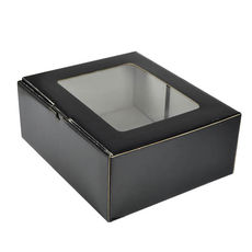 Small Shipper Box with Window - Black
