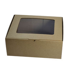 Small Shipper Box with Window - Kraft Brown