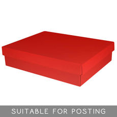 (TEMP OUT OF STOCK MID NOVEMBER) Small Shirt Box - Gloss Red