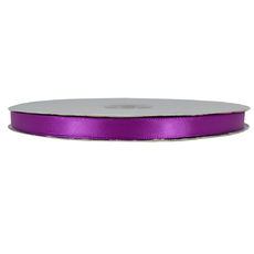 Satin Ribbon (10mm x 92metres) - Eggplant Purple