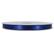 Satin Ribbon (10mm x 92metres) - Navy Blue