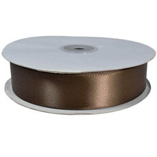 Satin Ribbon (25mm x 45metres) - Chocolate