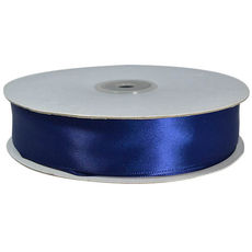 Satin Ribbon (25mm x 92metres) - Navy Blue