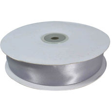 Satin Ribbon (25mm x 45metres) - Silver