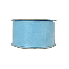 Discontinued Organza Ribbon (38mm x 22metres) - Baby Blue  WAS $13.95 NOW $7.95 - Limited Stock