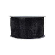 Discontinued Organza Ribbon (38mm x 22metres) - Black Gift Wrapping & Decoration