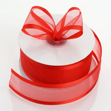 Satin Edge Organza Ribbon 38mm x 22metres - Red