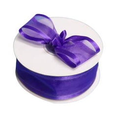 Satin Edge Organza Ribbon 38mm x 22metres - Purple