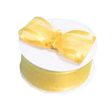 Satin Edge Organza Ribbon 38mm x 22metres - Yellow Gift Wrapping & Decoration