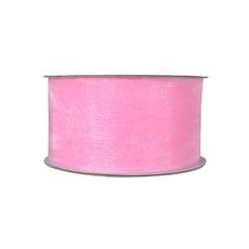 Organza Ribbon (38mm x 22metres) - Baby Pink Gift Wrapping & Decoration