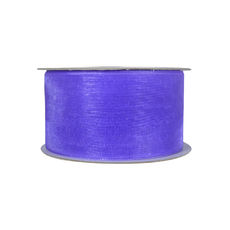 Discontinued Organza Ribbon (38mm x 22metres) - Purple  WAS $13.95 NOW $7.95 - Limited Stock