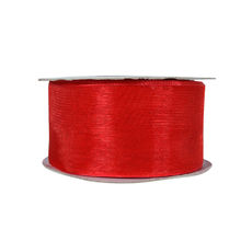 Organza Ribbon - 38mm x 22metres - Red
