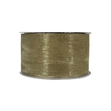 Organza Ribbon (38mm x 22metres) - Willow Green