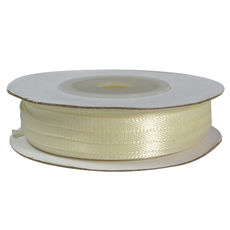 Satin Ribbon (3mm x 22metres) - Ivory Gift Wrapping & Decoration