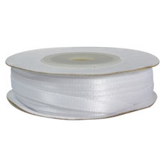 Satin Ribbon (3mm x 22metres) - White