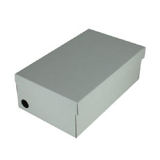 One Piece Shoe Box with Ventilation Pull Hole Kraft White