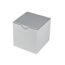 Candle Box 100mm Cube - White Cardboard