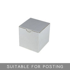 WAS $4.31 - NOW $2.15 - 68 x  Candle Box 100mm Cube - White Cardboard