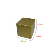 NOW $1.00ea - 940 x One Piece Cube Box 50mm - Gloss Gold
