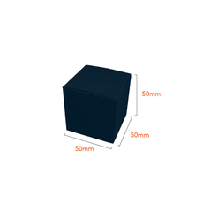 One Piece Cube Box 50mm - Gloss Navy Blue