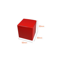 One Piece Cube Box 50mm - Gloss Red