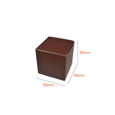 One Piece Cube Box 50mm - Matt Chocolate