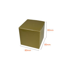 One Piece Cube Box 80mm - Gloss Gold