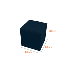 One Piece Cube Box 80mm - Gloss Navy Blue