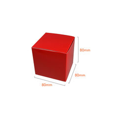 NOW $1.10ea - 285 x One Piece Cube Box 80mm - Gloss Red