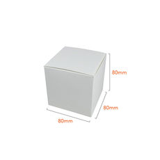 One Piece Cube Box 80mm - Gloss White