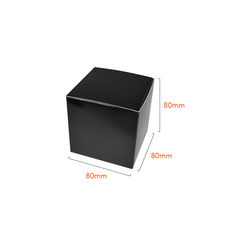One Piece Cube Box 80mm - Matt Black