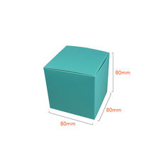 NOW $1.10ea - 250 x One Piece Cube Box 80mm - Matt Blue