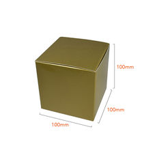 One Piece Cube Box 100mm - Gloss Gold