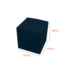 One Piece Cube Box 100mm - Gloss Navy Blue