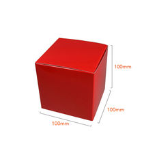 One Piece Cube Box 100mm - Gloss Red
