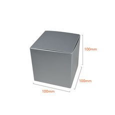 One Piece Cube Box 100mm - Gloss Silver