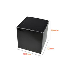 One Piece Cube Box 100mm - Matt Black