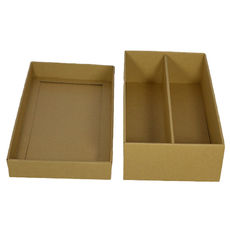 Optional Insert for Double Wine Pack Gift Box Base & Lid - Kraft Brown