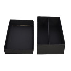 Optional Insert Double Wine Pack Gift Box Base & Lid - Kraft Black