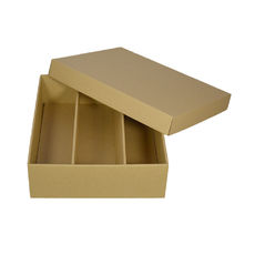 Optional Insert for Triple Wine Pack Gift Box Base & Lid - Kraft Brown