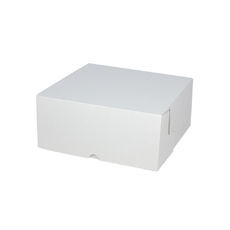 Cake Box 8 x 8 x 4 inches - Kraft White Inside/ White Oustide