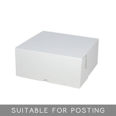 Cake Box 9 x 9 x 4 inches - Kraft White Inside/ White Oustide