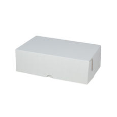 Cake Box 11 x 7 x 3.5 inches - Kraft White Inside/ White Oustide