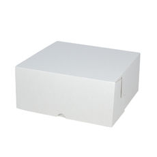 Cake Box 11 x 11 x 5 inches - Kraft White Inside/ White Outside