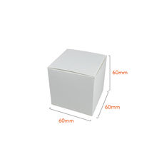 One Piece Cube Box 60mm - Gloss White