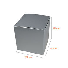 One Piece Cube Box 120mm - Gloss Silver