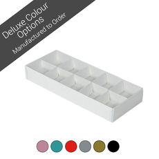 10 Pack Chocolate Box with Paperboard Inserts - Assorted Colours (Minimum Order 100 units)