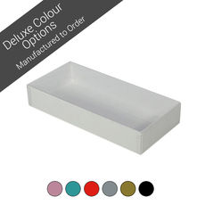 NEW SIZE Rectangle 10 Gift Box with Clear Lid - Assorted Colours (Minimum Order 100 units)