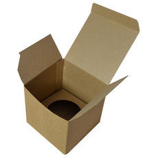 Single Cupcake Box - Kraft Brown with removable insert