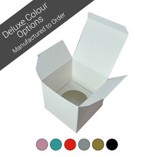Single Cupcake Box - Assorted Colours (Minimum Order 100 units)
